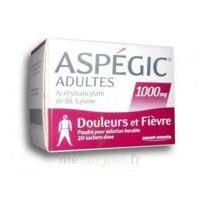 ASPEGIC ADULTES 1000 mg, poudre pour solution buvable en sachet-dose 20 à EPERNAY