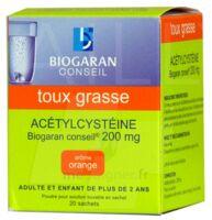 ACETYLCYSTEINE BIOGARAN CONSEIL 200 mg Pdr sol buv en sachet B/20 à EPERNAY