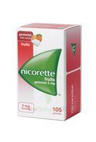 Nicorette 2 mg Gomme à mâcher médicamenteuse sans sucre fruits Plq/105 à EPERNAY