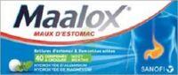 MAALOX HYDROXYDE D'ALUMINIUM/HYDROXYDE DE MAGNESIUM 400 mg/400 mg Cpr à croquer maux d'estomac Plq/40 à EPERNAY