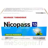 Nicopass 1,5 mg Pastille sans sucre menthe fraîcheur Plq/96 à EPERNAY
