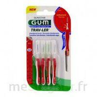 GUM TRAV - LER, 0,8 mm, manche rouge , blister 4 à EPERNAY