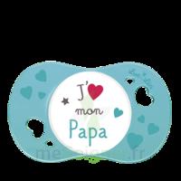 """Luc et Léa Sucette symétrique +6mois """"j'aime mon papa"""" B/1 à EPERNAY"""