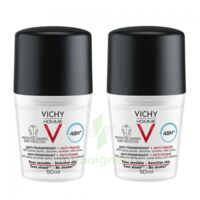 Vichy Homme Déodorant anti-transpirant anti trace 48H 2*Billes/50ml à EPERNAY